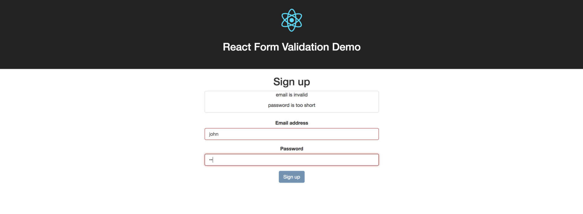 Валидация форм в ReactJS | How to do Simple Form Validation in Reactjs